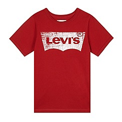 Levi's - Boy's red distressed logo t-shirt