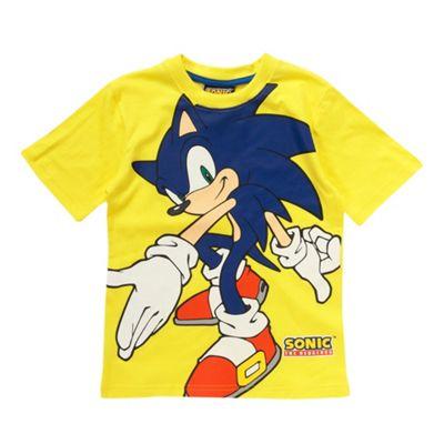 Boys yellow Sonic t-shirt