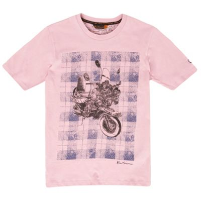 Boys light pink motorbike t-shirt