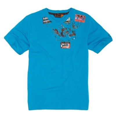 Boys blue tape t-shirt