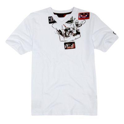 Boys white tape t-shirt