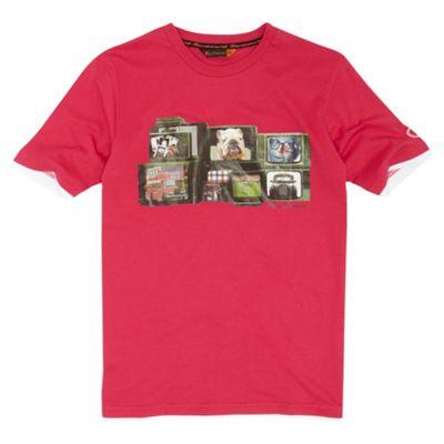 Boys pink TV t-shirt
