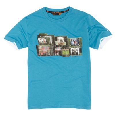 Boys turquoise TV t-shirt