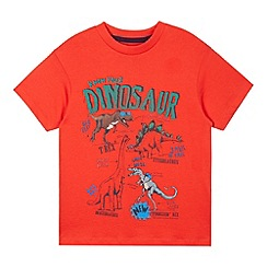 bluezoo - Boy's red dinosaurs print t-shirt