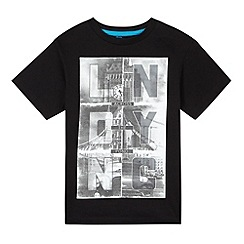 bluezoo - Boy's black London and NYC print t-shirt