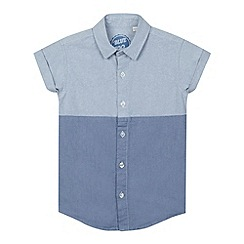 bluezoo - Boy's blue two tone oxford shirt