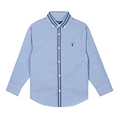 bluezoo - Boy's blue gingham checked shirt