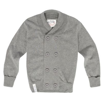 Boys Grey Double Breasted Cardigan