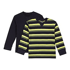 bluezoo - Pack of two boy's navy striped tops