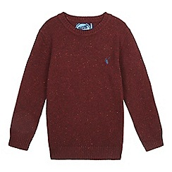 bluezoo - Boys' wine crew neck jumper