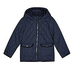 bluezoo - Boy's navy hooded lightweight padded coat