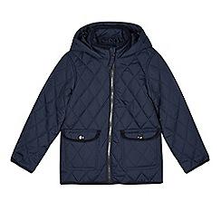 bluezoo - Boy's navy hooded lightweight padded coat