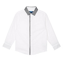 bluezoo - Boy's white contrast collar shirt