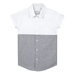 bluezoo - Boy's white two tone oxford shirt
