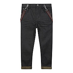 RJR.John Rocha - Designer boy's black coated jeans and braces