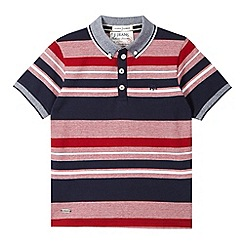 J by Jasper Conran - Designer boy's red textured striped polo shirt