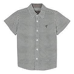 RJR.John Rocha - Designer boy's white chequerboard print shirt