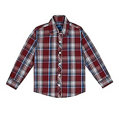 bluezoo - Boy's wine large checked shirt