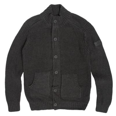 Boys Grey Knitted Cardigan