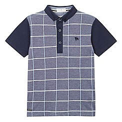 J by Jasper Conran - Designer boy's navy textured check polo shirt