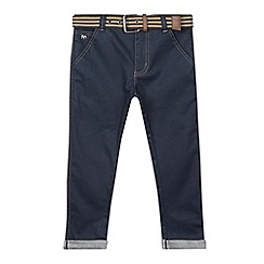J by Jasper Conran - Designer boy's blue coated belted jeans