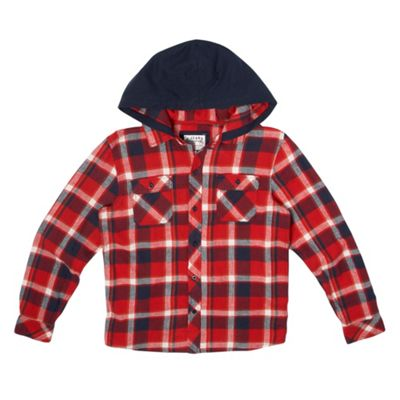 Boys Red Hooded Shirt