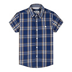 J by Jasper Conran - Designer boy's blue checked shirt
