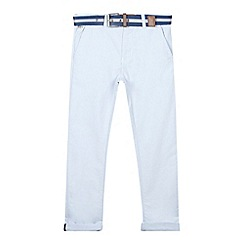 J by Jasper Conran - Designer boy's light blue belted chambray trousers
