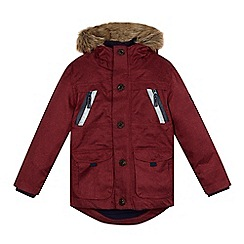 J by Jasper Conran - Boys' red performance parka coat