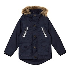 J by Jasper Conran - Boys' navy performance parka coat