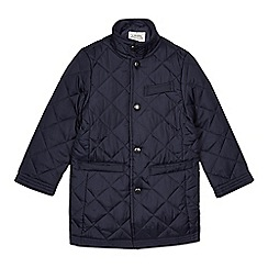 J by Jasper Conran - Boys' navy quilted coat
