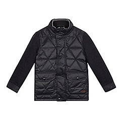 J by Jasper Conran - Boys' black wax quilted jacket