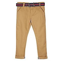 J by Jasper Conran - Designer boy's tan slim fit belted chinos
