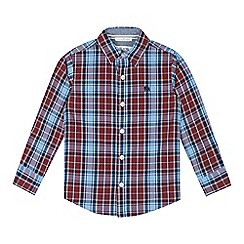 J by Jasper Conran - Designer boy's wine checked shirt