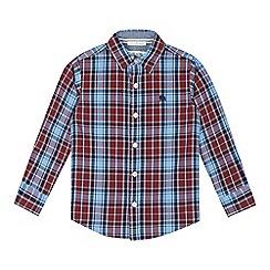 J by Jasper Conran - Designer boy's wine checked shirt