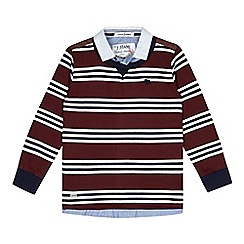 J by Jasper Conran - Designer boy's red striped mock layer jumper
