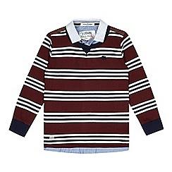 J by Jasper Conran - Designer boy's red striped mock layer jumper