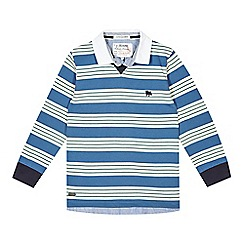 J by Jasper Conran - Designer boy's blue mock 2-in-1 shirt and striped top