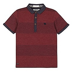 J by Jasper Conran - Designer boy's dark red graduated stripe polo shirt