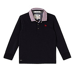 J by Jasper Conran - Designer boy's navy mock 2-in-1 collar polo top