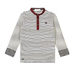 J by Jasper Conran - Designer boy's white striped grandad top