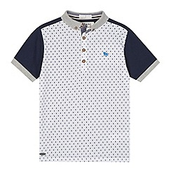 J by Jasper Conran - Designer boy's white front panel print polo shirt