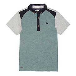 J by Jasper Conran - Designer boy's green jacquard panel polo shirt