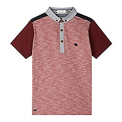 J by Jasper Conran - Designer boy's red textured polo shirt