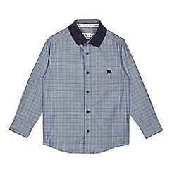 J by Jasper Conran - Designer boy's blue checked chambray shirt