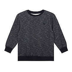 J by Jasper Conran - Boy's blue textured crew neck jumper