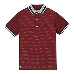 J by Jasper Conran - Boys' red jacquard polo shirt