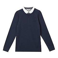 J by Jasper Conran - Boys' navy mock shirt and jumper