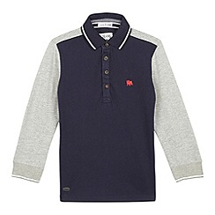 J by Jasper Conran - Boys' grey contrast polo shirt