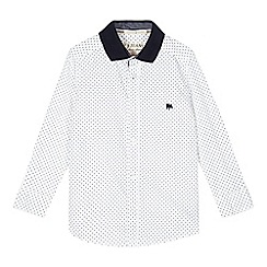 J by Jasper Conran - Boys' white geometric shirt